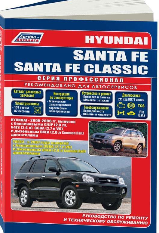 Инструкция HYUNDAI SANTA FE / SANTA FE CLASSIC (Хендай Санта Фе / Санта Фе Классик) 2000-2006 бензин / дизель Книга по ремонту и эксплуатации