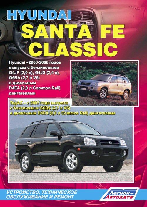 HYUNDAI SANTA FE / SANTA FE CLASSIC 2000-2006 бензин / дизель Книга по ремонту и эксплуатации