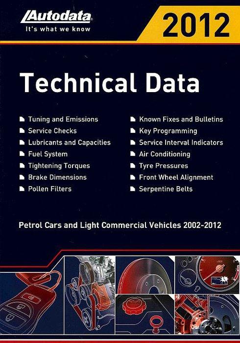 Регулировочные данные по бензиновым моделям 2012 (2002-2012)