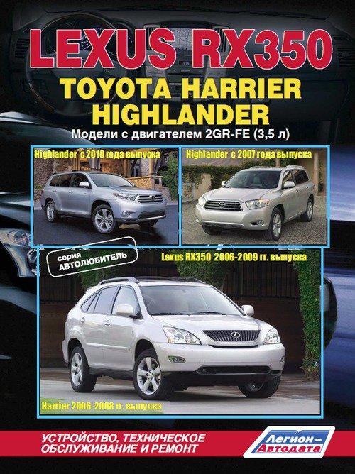Руководство TOYOTA HIGHLANDER (Тойота Хайлендер) с 2007 и с 2010 бензин Пособие по ремонту и эксплуатации