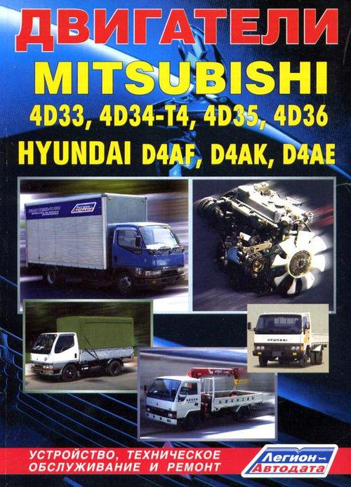 Двигатели MITSUBISHI 4D33, 4D34-T4, 4D35, 4D36 / HYUNDAI D4AF, D4AK, D4AE дизель