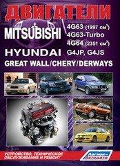 Двигатели MITSUBISHI 4G63, 4G63-Turbo, 4G64 / HYUNDAI G4JP, G4JS бензин
