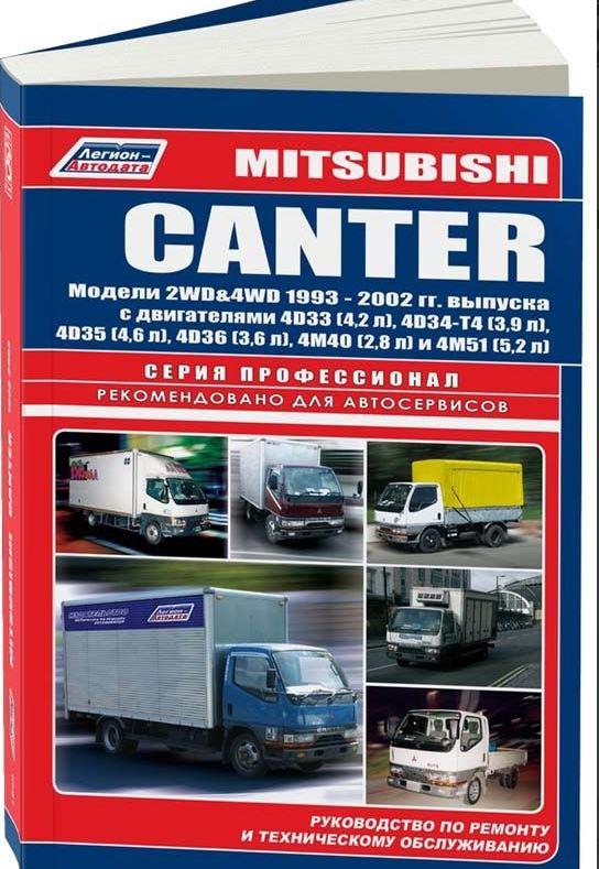 Инструкция MITSUBISHI CANTER (Мицубиси Кантер) с 1993 дизель Книга по ремонту и эксплуатации