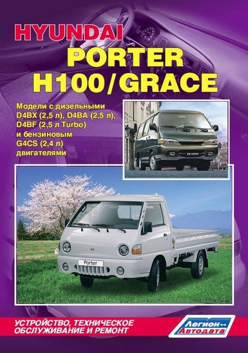 HYUNDAI GRACE / H-100 1993-2002 бензин / дизель Пособие по ремонту и эксплуатации