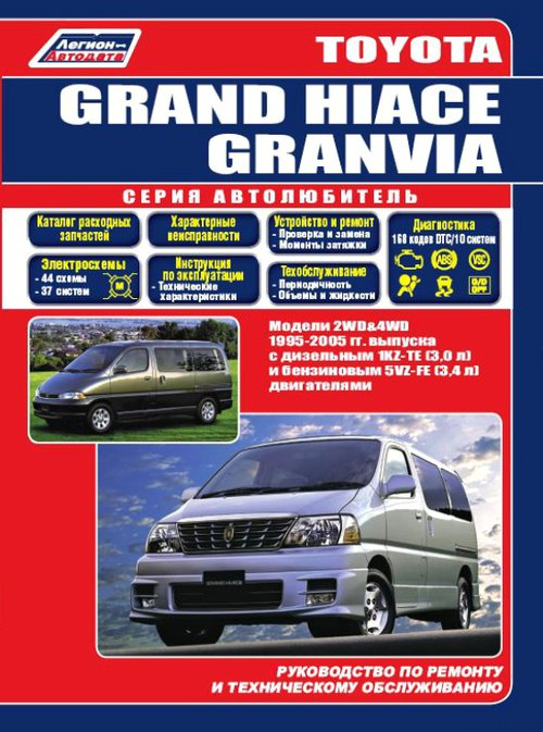 TOYOTA GRAND HIACE 1995-2005 бензин/дизель Пособие по ремонту и эксплуатации