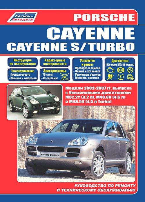 Инструкция PORSCHE CAYENNE / CAYENNE S / TURBO (Порш Кайен) 2002-2007 бензин Пособие по ремонту и эксплуатации