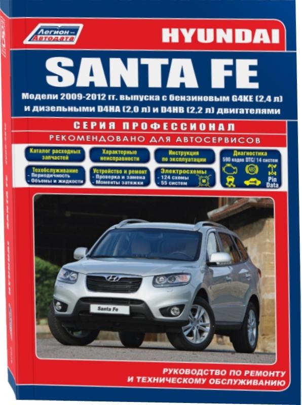 HYUNDAI SANTA FE 2009-2012 бензин / дизель Книга по ремонту и эксплуатации