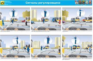 Каталог плакатов Сигналы регулировщика