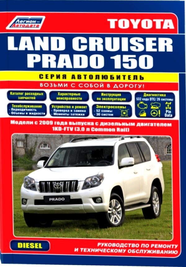 TOYOTA LAND CRUISER PRADO 150 с 2009 дизель Руководство по ремонту и эксплуатации (4655)