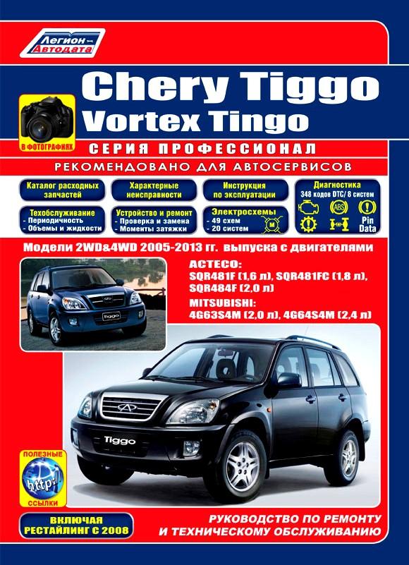 CHERY TIGGO / VORTEX TINGO 2005-2013 (рестайлинг 2008) бензин Инструкция по ремонту и эксплуатации