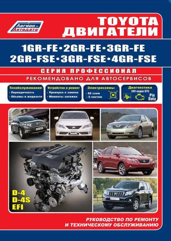 Двигатели TOYOTA 1GR-FE, 2GR-FE, 3GR-FE, 2GR-FSE, 3GR-FSE, 4GR-FSE бензин