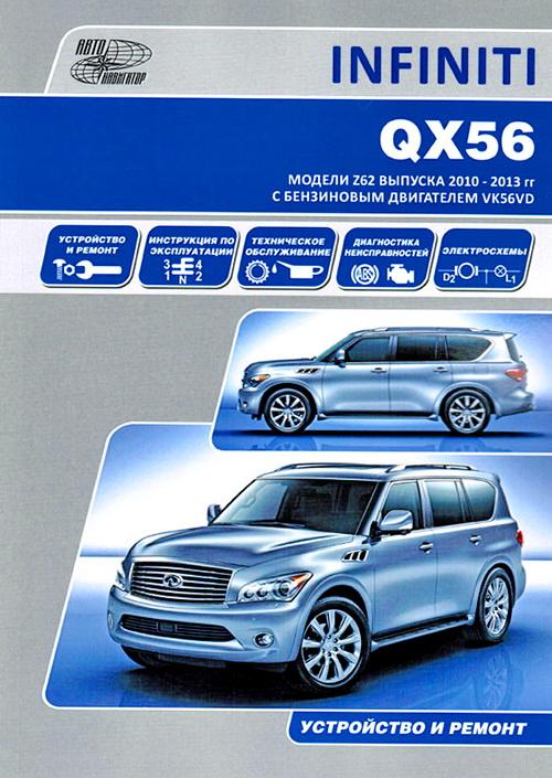 INFINITI QX56 2010-2013 бензин Руководство по ремонту и эксплуатации