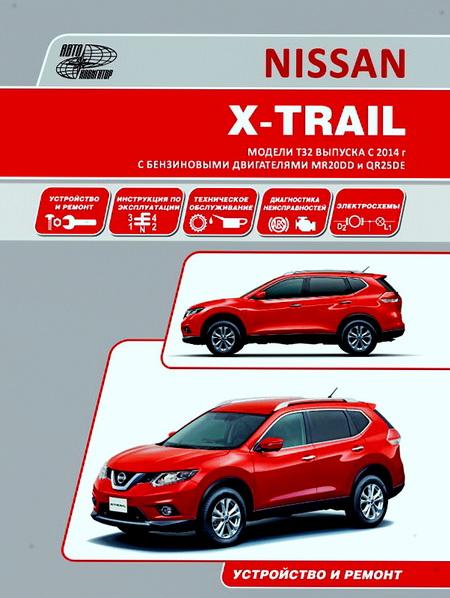 Инструкция NISSAN X-TRAIL (Ниссан Икстрейл) с 2014 бензин Книга по ремонту и эксплуатации