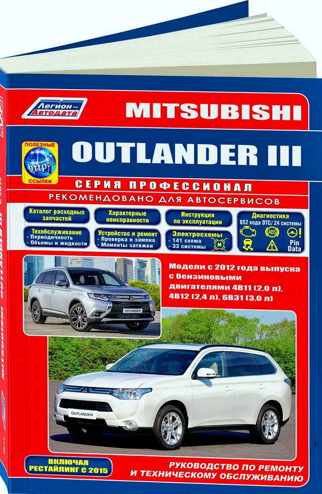 MITSUBISHI OUTLANDER III бензин Книга по ремонту и эксплуатации