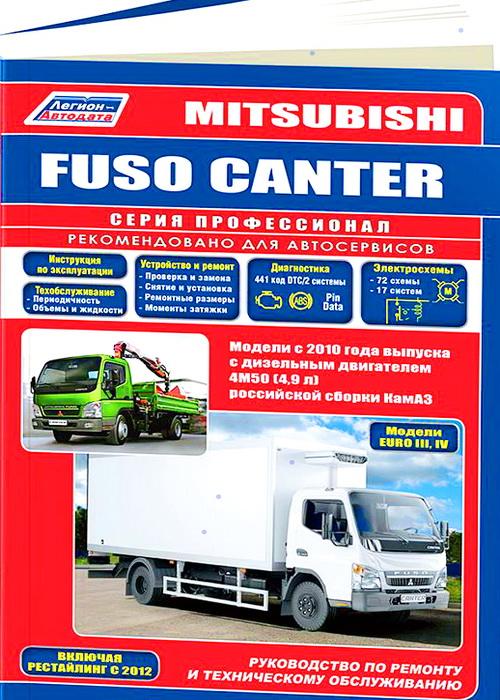 Книга MITSUBISHI FUSO CANTER (Мицубиси Фусо Кантер) с 2010 дизель Инструкция по ремонту и эксплуатации