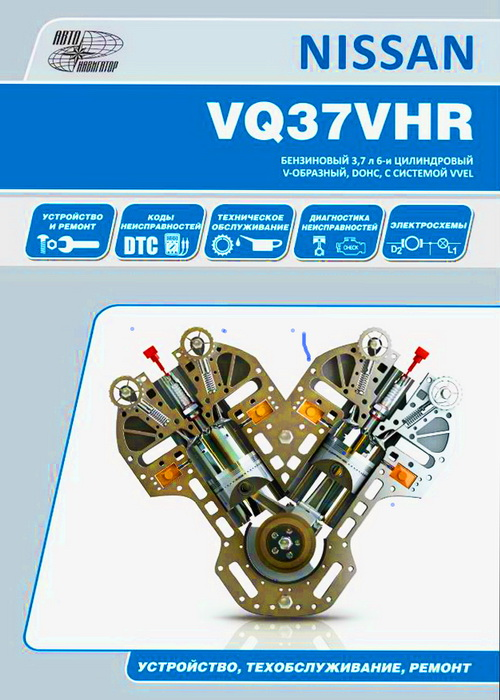 Книга двигатели NISSAN VQ37HR Руководство по ремонту