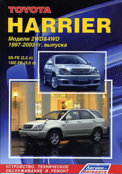 Руководство по ремонту Toyota Harrier