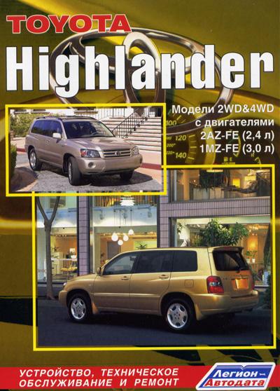 Руководство по ремонту Toyota Highlander
